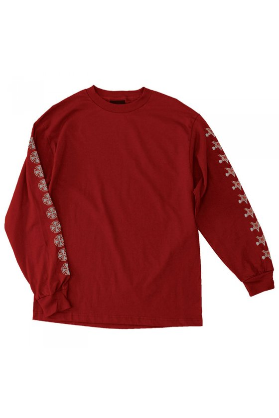 Independent - Thrasher Pentagram Cross L/S Cardinal Red