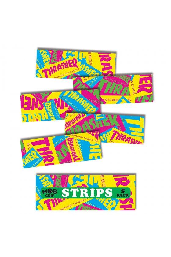 Mob - Thrasher Retro Graphic Strips Grip Tape 9in x 3.25in Bg/5 Mob