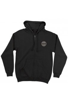 Independent - Cab Flourish Zip Hooded Midweight Sweatshirt Black