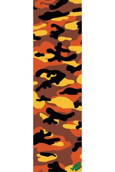 Mob - Camo Orange GripTape 9in x 33in Graphic Mob