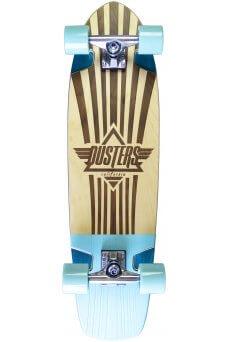 "Dusters - Keen Retro Frame Teal 31""x 8.25"" - 62x51mm 83A - Tensor 5.0"" - Wheel Base 16.5"""