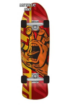 Santa Cruz - Screaming Hand Overlay 9.42in x 31.88in Cruzer 80s Cruzer