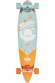 """Dusters - Cruisin Zodiac Blue Orange 38"""" x 8.75""""- 65x47mm 78A - Tensor 6.0"""" - Wheel Base 24.5"""""""