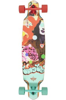 """Dusters - Indie 184 Red Teal 38"""" x 9.125""""- Wheel Base 28""""- 180mm Slant Truck- 71x51mm 78A"""