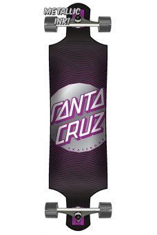 Santa Cruz - Vertigo Wavy Dot 10in x 40in Cruzer Drop Down