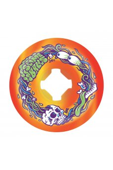 Santa Cruz - 56mm Brains Speed Balls Orange Yellow Swirl 99a Slime Balls