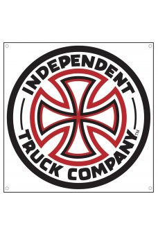 Independent - Red/White Cross Banner Vinyl 45in x 45in