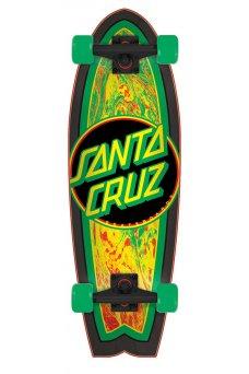 Santa Cruz - Rastafied Dot 8.8in x 27.7in Cruzer Shark