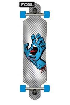 Santa Cruz - Screaming Hand Foil 9.2in x 41in Cruzer Drop Thru
