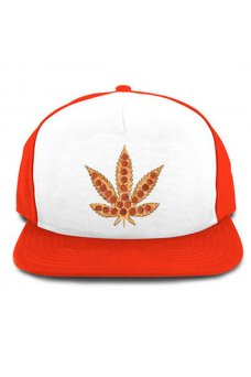 SkateMental - Cappellini Pizza Leaf Snapback Red White