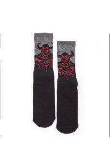 Toy M. - Tm Hell Monster Crew Socks Black