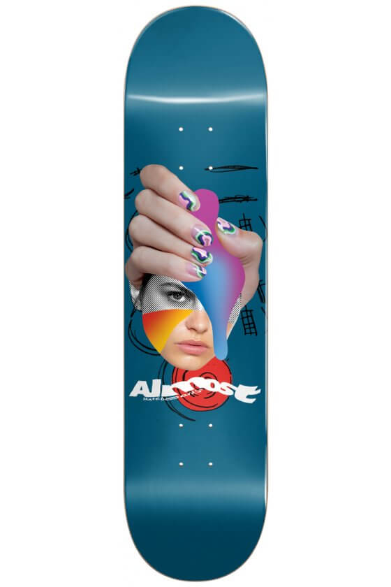 Almost - Team Face Collage Logo R7 Blue 8.5""