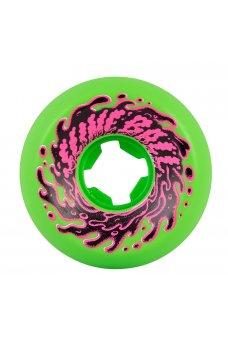 Santa Cruz - 56mm Double Take Vomit Mini Neon Green Black 97a Slime Balls
