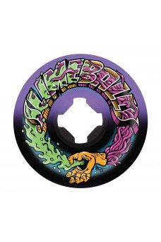 Santa Cruz - 53mm Greetings Speed Balls Purple Black 99a Slime Balls