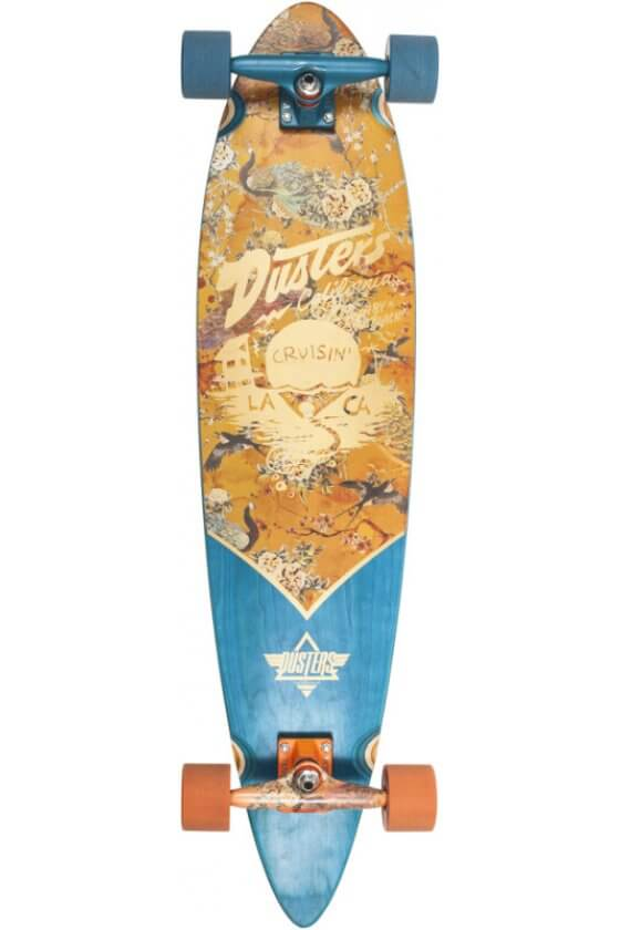 "Dusters - Cruisin Kimono Orange 37"" x 8.75""- 65x47mm 78A - Tensor 6.0"" - Wheel Base 24.5"""