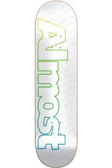 Almost - Team Faded Outline White 7.75""