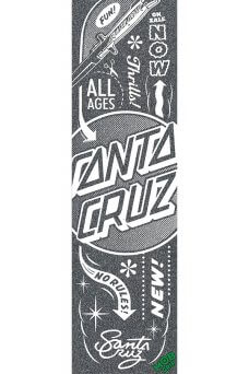 Mob - Santa Cruz Flash Black White 9in x 33in