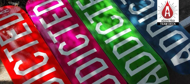 Addicted Logo Skateboard Deck - Tavola Skateboard addicted